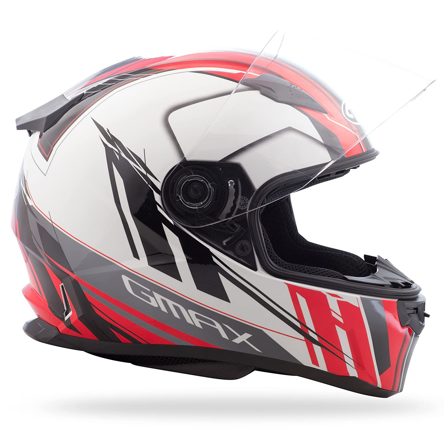 GMAX Unisex-Adult Full-face Style G7493203 TC-1 Ff49 Rogue Street Helmet White//Red xs X-Small G7493203TC-1