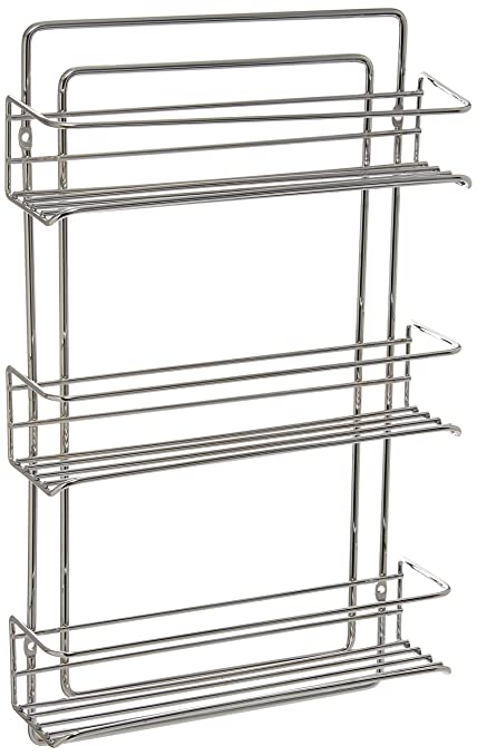 Organize It All 3 Tier Wall Mounted Spice Rack U2013 Chrome