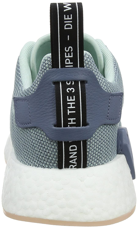 Adidas Damen Steel NMD_r2 Sneaker, Grau (Raw Steel Damen S18/Ash Grün S18/Ftwr Weiß) fc7f75