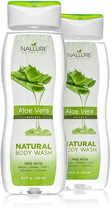 Amazon Com Natural Body Wash Aloe Vera Extract 8 5 Fl Oz Natural
