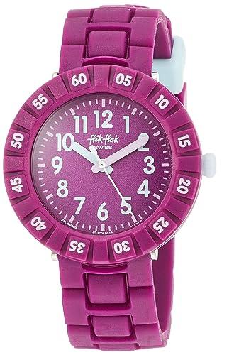 Flik Flak Solo Purple FCSP089 Reloj Elegante para niños: Amazon.es: Relojes