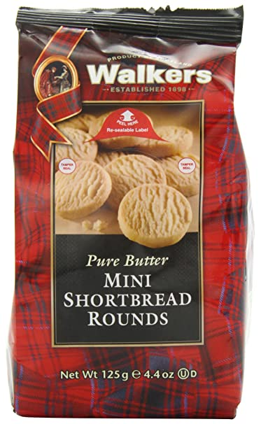 Walkers Mini Shortbread Rounds Postre - 6 Paquetes de 1 x 125 gr - Total: