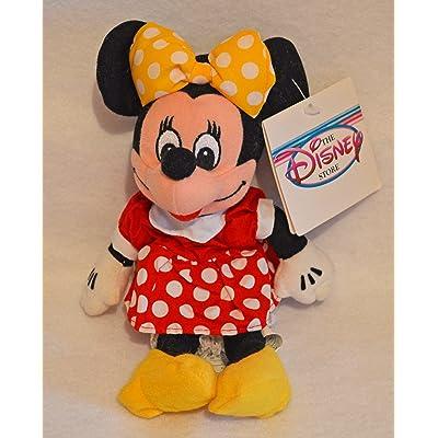 Disney Minnie Mouse Mini Bean Bag Plush - Red Dress: Toys & Games