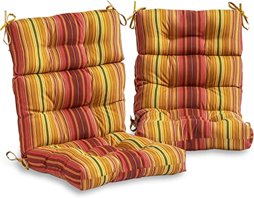 Cheap South Pine Porch AM6809S2-KINNABARI Kinnabari Stripe Outdoor High Back Chair Cushion outdoor chair cushion for sale