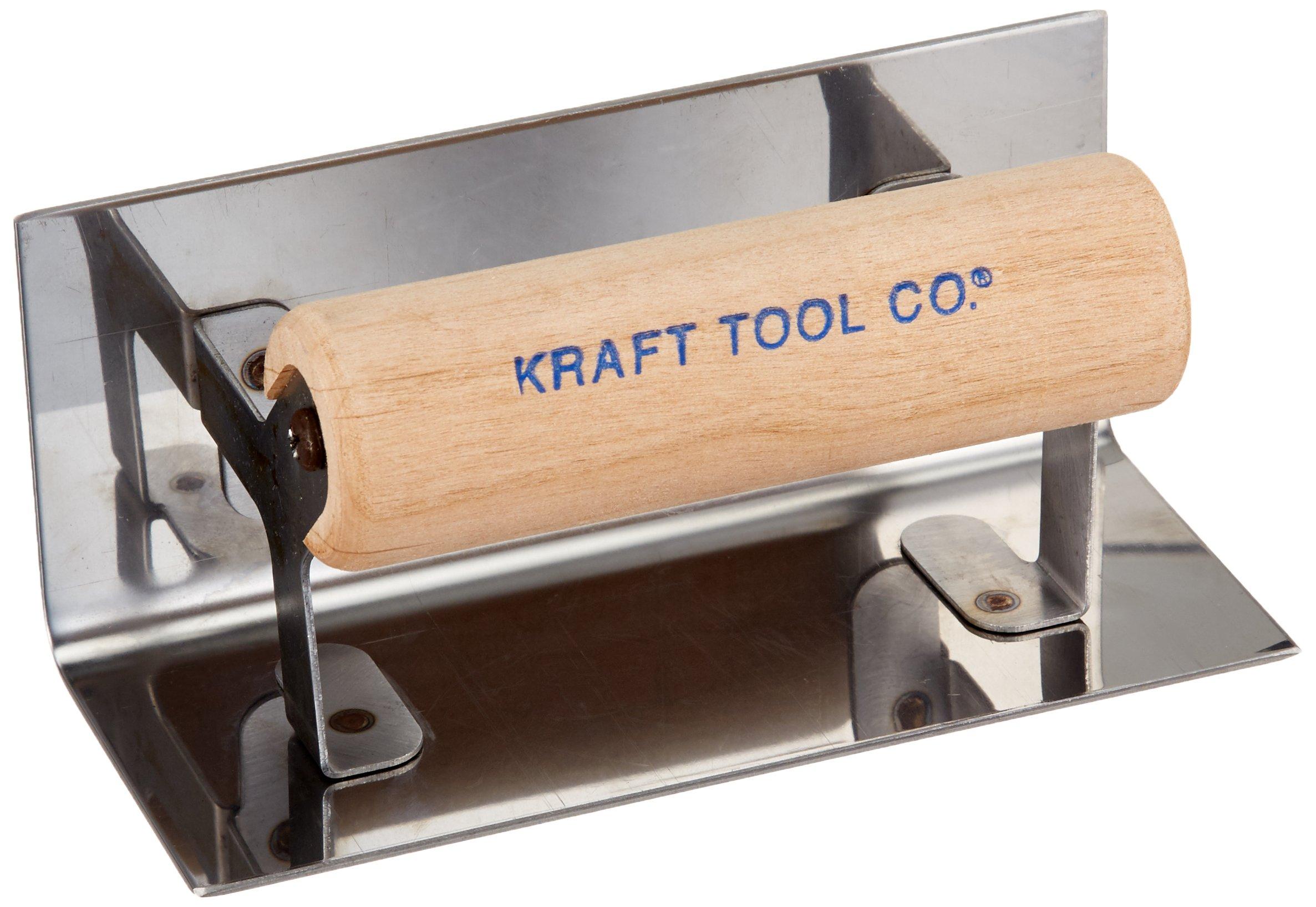 Kraft Tool CF126 1/4-Inch Radius Inside Step Tool with Wood Handle, 6 x 2-1/2-Inch