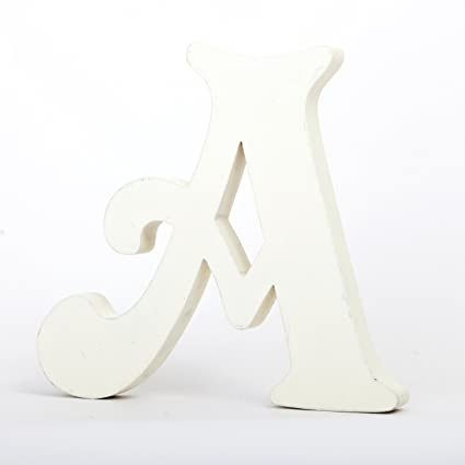 Letter O Holic Extra Large 15 Cm Wooden Alphabet Letters Hand Finished Wall Mounted Decor 6 Inch Ivory