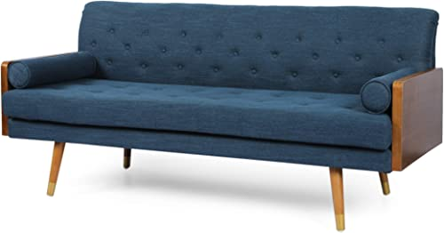 Aidan Mid-Century Modern Tufted Fabric Sofa