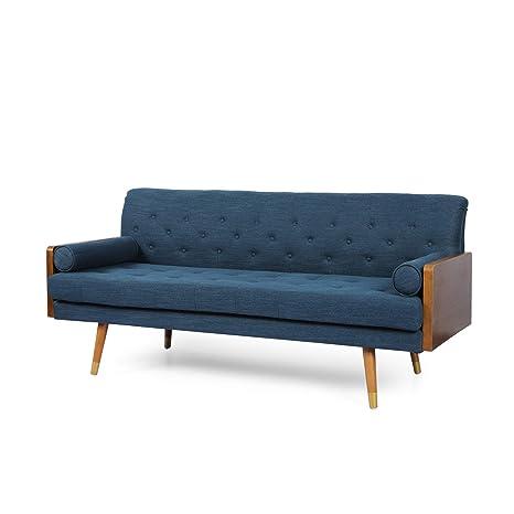 Amazon.com: Aidan Mid-Century Modern Tufted Fabric Sofa ...