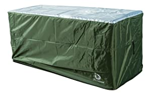 YardStash Heavy Duty Waterproof Deck Box Cover Protects from Outdoor Rain Wind and Snow. Extends Lifetime of Storage Box with UV Protected Rip-Stop 210D Heat Shield 600D Polyester