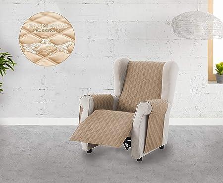 Comprar Textilhome - Funda Cubre Sofá Circus -1 Plaza - Relax - Protector para Sofás Acolchado Color Beige