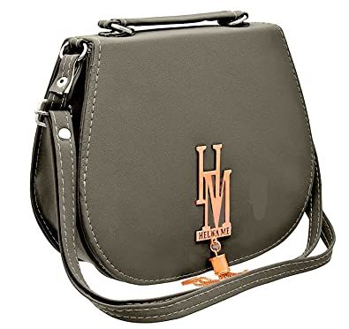 RJM Sales   Service Women s Grey Polyester Multi Pocket Sling Side Cross  Body Bag with Adjustable Strap  Amazon.in  Shoes   Handbags bc661e21b8ead