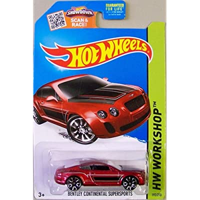 Hot Wheels 2015 HW Workshop Bentley Continential Supersports 192/250, Maroon: Toys & Games