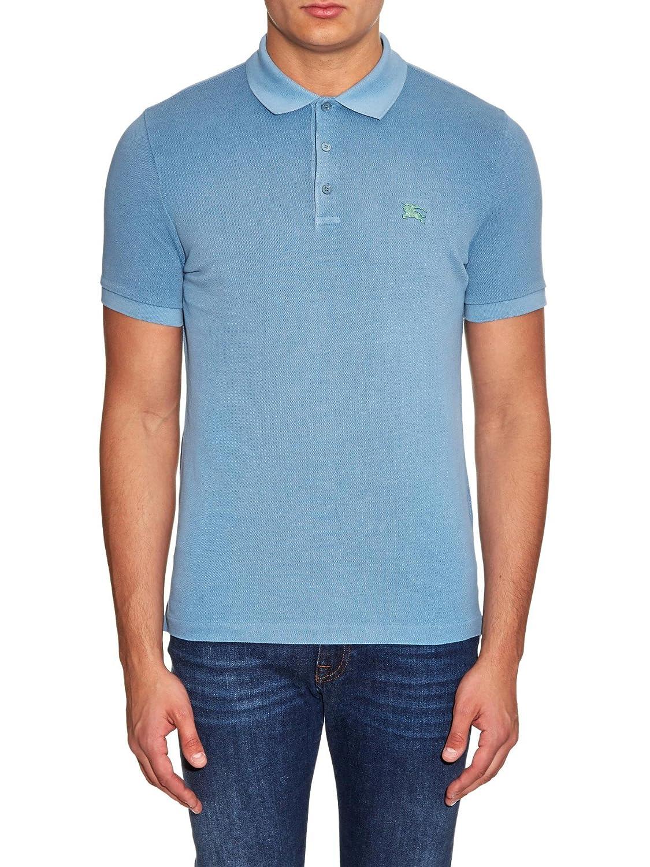 8c7ef6199bb7f Burberry Brit Cassius Metal Logo Polo Shirt 100% Cotton BNWT SZ M Blue RRP  £160: Amazon.co.uk: Clothing