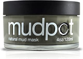 product image for Mudpot by Black Rock Mud Company - Natural Face Mask- Organic Mineral Rich Illite Clay Mask- Over 50 Trace Minerals- Facial Cleanser- Detoxifies and Restores Skins pH- No Preservatives Chemicals and Additives - 4 ounces, Made in the USA