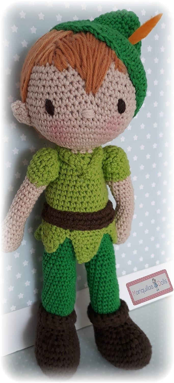 Muñeco Peter Pan a crochet. Amigurumis.: Amazon.es: Handmade