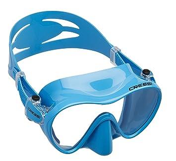 Cressi F1 Small - Máscara de Buceo para niños, Color Azul