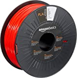 AmazonBasics PLA 3D Printer Filament, 1.75mm, Red, 1 kg Spool