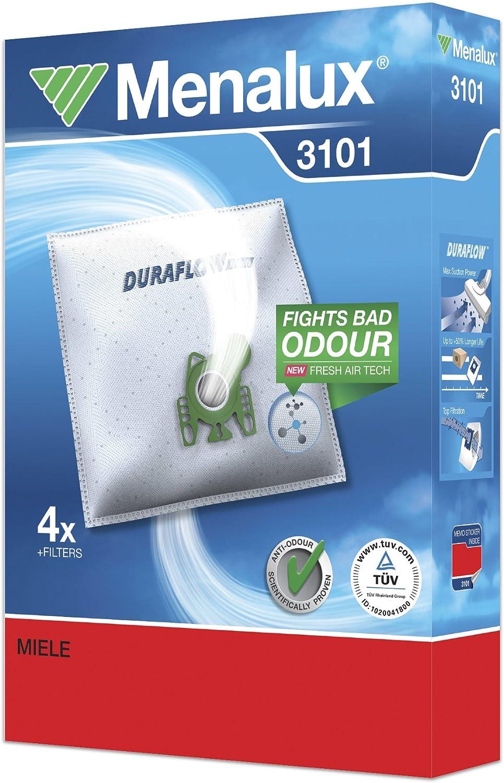 S2000...2999 Menalux 3101 Value Pack Staubsaugerbeutel für Miele S2 S800...899