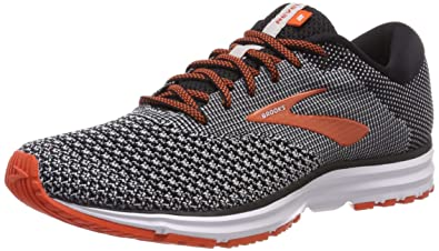 7b04304fec1 Brooks Men s Revel 2 Black Light Grey Orange 7 ...