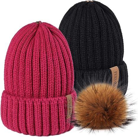 gift embellished cap Woman winter hat teen hat rabbit fur pompom knitted hat winter cap warm hat