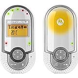 """Motorola MBP 16 - Baby monitor audio digitale con schermo LCD da 1.5"""", modo eco e luce notturna, bianco/grigio"""