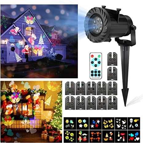 LED Proyector Luces de Navidad, CAMTOA Impermeable Multicolor ...