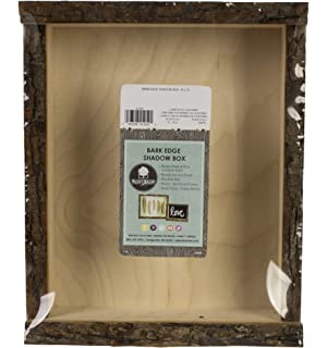 walnut hollow 41202 natural bark edge shadow box for arts crafts home decor