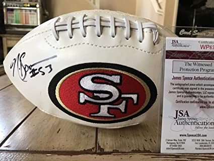 2e3e0cbeb Image Unavailable. Image not available for. Color  Navorro Bowman  Autographed Signed Football - JSA Authentic Memorabilia San Francisco 49ers  Navarro