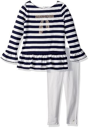08f2c67c718b5 Nautica Girls' Toddler Two Piece Legging Sets, foil Navy, ...
