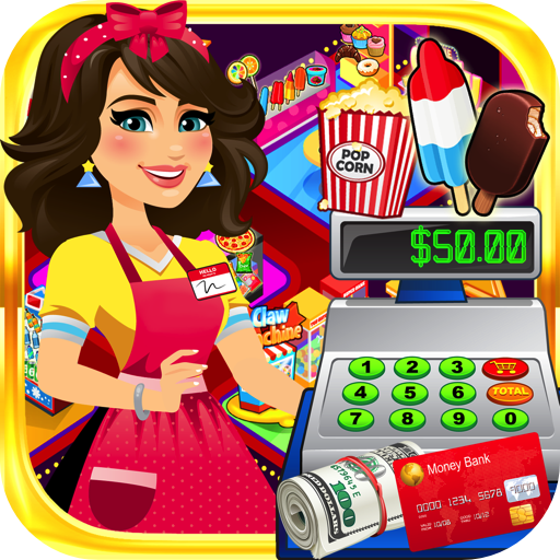 Supermarket Movie Cashier: Kids Shopping Games & Cash Register Simulator (Operation Halloween Game)