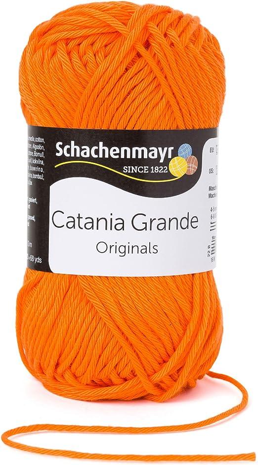 Color intenso de algodón hilo Catania Grande! Gran verano lana 100% algodón naranja Fb 3281 alta brillante, verano hilo de algodón de calidad con colores brillantes de Schachenmayr: Amazon.es: Hogar
