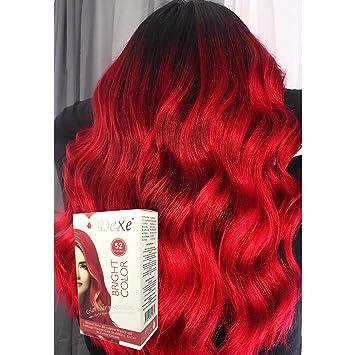 Amazon.com : Dexe Bright Color Bright Red 180 ml, Revolutionary Hair ...