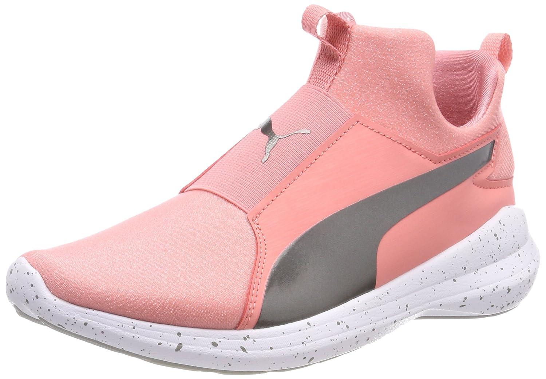 Puma Rebel Mid Wns Speckles, Zapatillas para Mujer 42 EU Rosa (Shell Pink-puma Aged Silver)