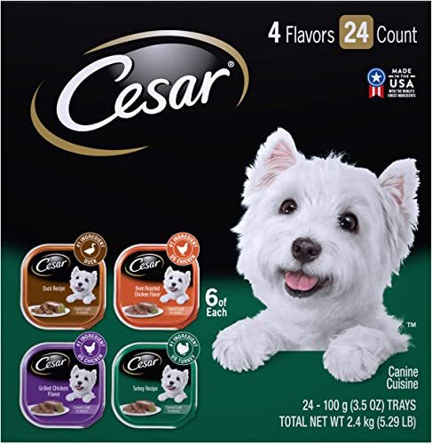 Cesar Gourmet Wet Dog Food Variety Packs 24 Tray