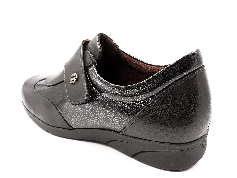 Zapato Mujer cómodo Tipo Deportivo con velcros Pitillos, Piel Piel Piel y Charol Color Negro - 2805-99c 174219