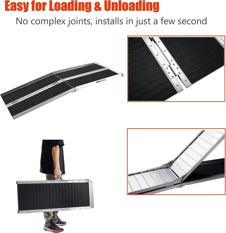 Rampas para Sillas De Ruedas dewdropy Rampa Coche Kit De Rampa De Umbral De Pl/ástico Resistente Rampas De Bordillo De Pl/ástico