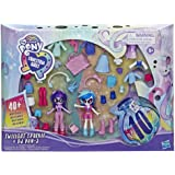 My Little Pony Equestria Girls Fashion Squad Twilight Sparkle and DJ Pon-3 Mini Doll Set Toy with Over 40 Fashion Accessories