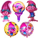 Trolls Happy Birthday Party Balloons (5 Pack)
