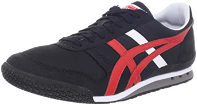 165382fdc921 Image Unavailable. Image not available for. Colour  Asics - Mens Onitsuka  Tiger Ultimate 81 Shoes In Black Fiery Red ...