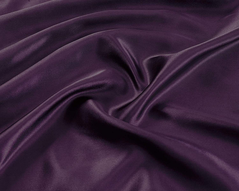 Linen Plus Queen Size 4pc Satin Sheet Set Soft Silk Cozy Solid Purple New