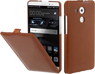 StilGut UltraSlim Case, Custodia in Pelle per Huawei Mate 8, Cognac