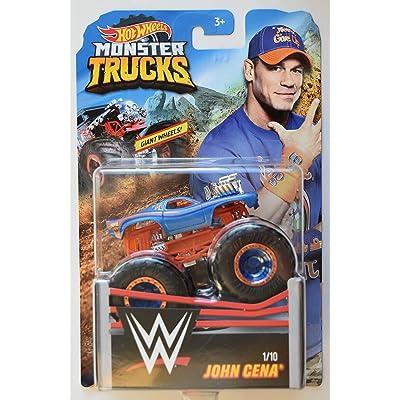 HOT Wheels Monster Trucks 1:64 Scale Blue Truck John Cena 1/10 Giant Wheels: Toys & Games