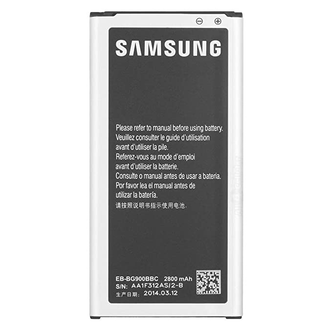 Samsung 2800mAh OEM Battery for Galaxy S5, Black/Silver (Discontinued by Manufacturer)