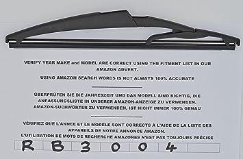 Limpiaparabrisas trasero de ajuste exacto 26 cm RB3004: Amazon.es: Coche y moto