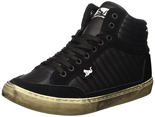 Mens Boston Logo Tennis Shoes, Black Drunknmunky