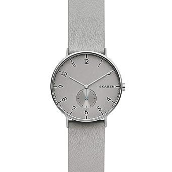 Skagen Reloj Analógico para Hombre de Cuarzo con Correa en Cuero SKW6467: Amazon.es: Relojes