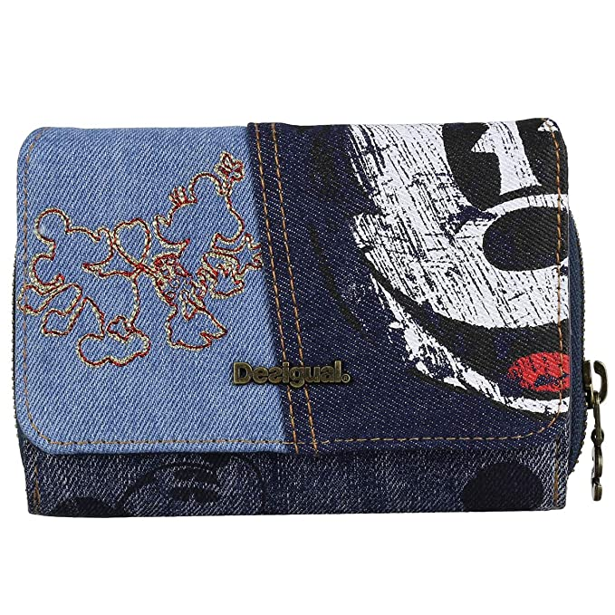 Desigual - Cartera para Mujer Azul Azul Medium: Amazon.es ...