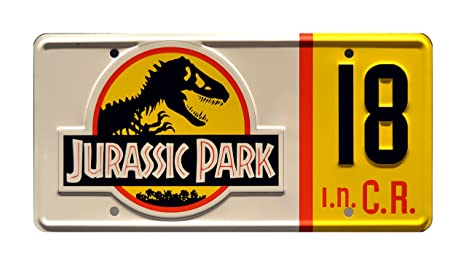 Awesome Jurassic Park | 1993 Jeep Wrangler Sahara #18 | Metal Stamped Vanity Prop License  Plate