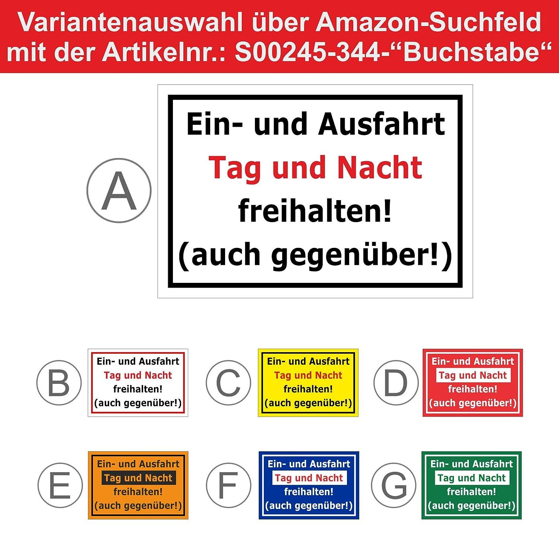 Bohrl/öcher Melis Folienwerkstatt Schild S00350-018-C 20 VAR 15x10cm Niemals Hier parken 3mm Aluverbund