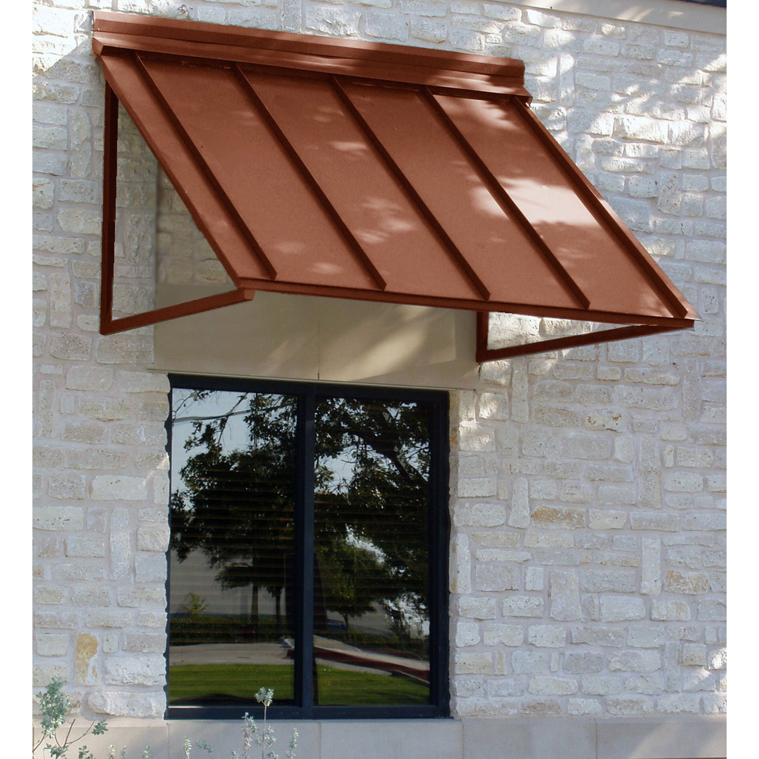 amazon com awntech 4 feet houstonian metal standing seam awning